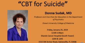 Psychiatry Grand Rounds: CBT for Suicide By Donna Sudak