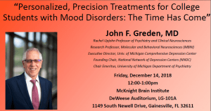 Personalized, Precision Treatments for College Students with Mood Disorders: The Time Has Come by John F. Greden, MD